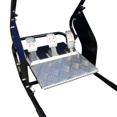 adjustable foot pedal system simulator