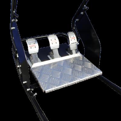 adjustable foot pedal system simulator