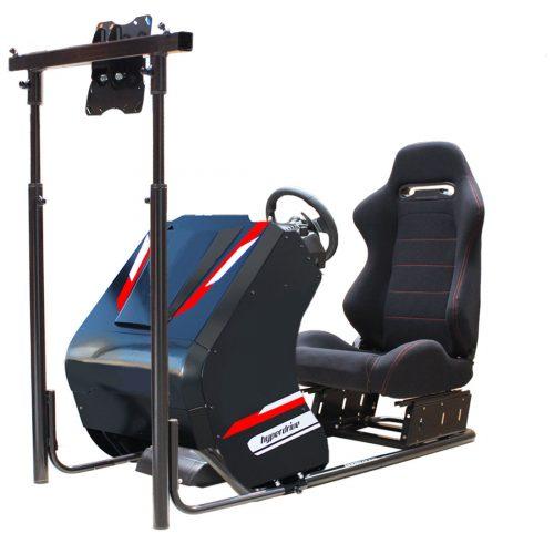 D-RS 300B racing simulator cockpit - single lcd tv screens