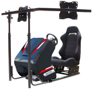 D-RS 300B racing simulator cockpit - triple lcd tv screens