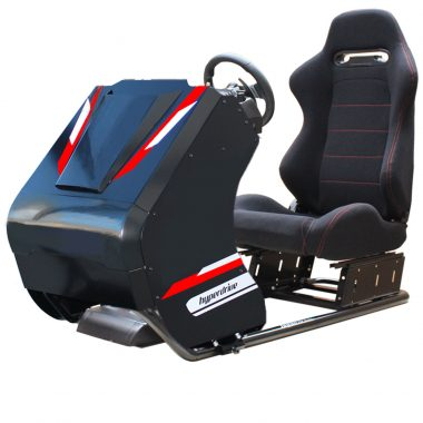 racing simulator cockpit with front body