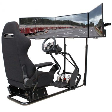 D-RS 300 racing simulator cockpit foot pedal system rig, chair, seat play seat