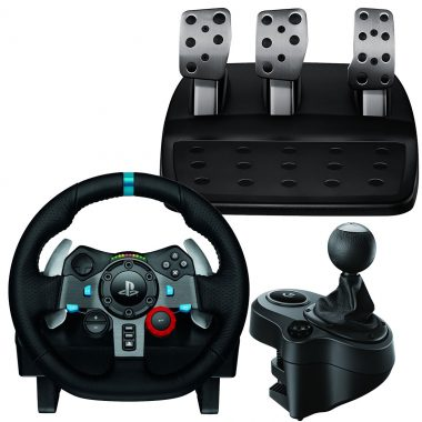 G29 racing wheel & pedals, gear shifter