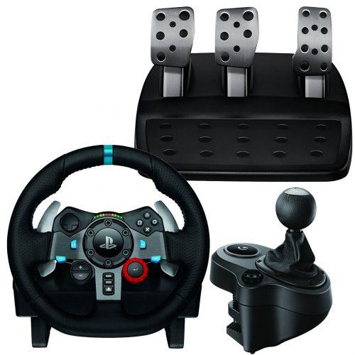 G29 racing wheel & pedals, gear shifter