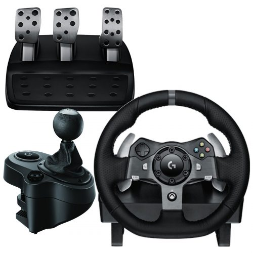 G920 racing wheel & pedals, gear shifter