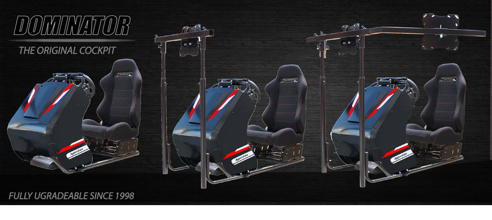 SIM RACING, DRIVING & FLIGHT SIMULATOR COCKPITS  - GAMING RACE SEAT SIM RIGS
